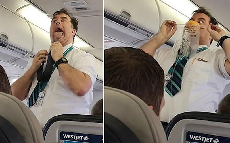 Βίντεο: Ένας αεροσυνοδός με.. χιούμορ!